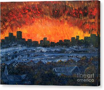 The Night The Lights Went Out Canvas Print