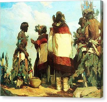 The Niman Kachinas Canvas Print by Carl Oscar Borg