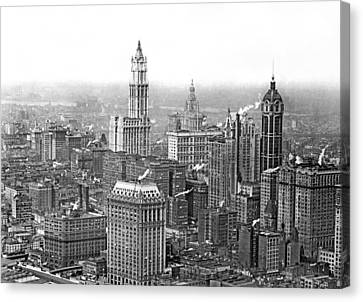The Ny Financial District Canvas Print by Underwood Archives