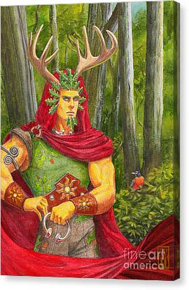 The Oak King Canvas Print by Melissa A Benson