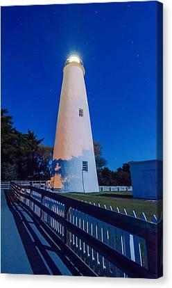 The Ocracoke Lighthouse On Ocracoke Island On The North Carolina Canvas Print by Alex Grichenko