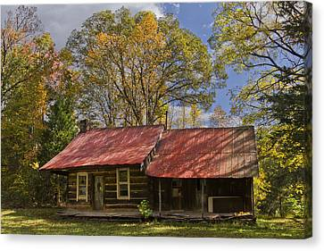 The Old Homestead Canvas Print by Debra and Dave Vanderlaan