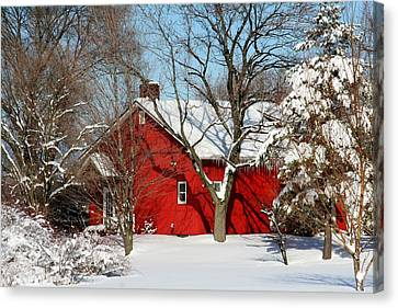 The Old Red House Canvas Print