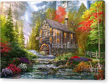 The Old Wood Mill Canvas Print by Dominic Davison
