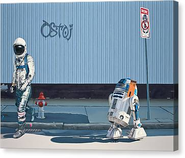 Canvas Print featuring the painting The Parking Ticket by Scott Listfield