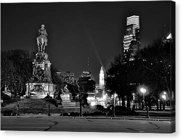 The Parkway At Night Canvas Print by Bill Cannon