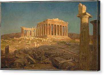 Canvas Print featuring the painting The Parthenon by Frederic Edwin Church