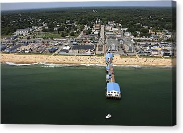 The Pier At Old Orchard Beach, Maine Canvas Print by Dave Cleaveland
