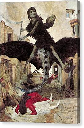 The Plague Canvas Print by Arnold Bocklin