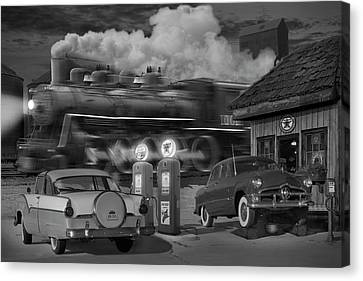 The Pumps Canvas Print by Mike McGlothlen