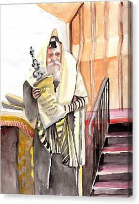 The Rebbe Canvas Print by Baruch Y Lebovits