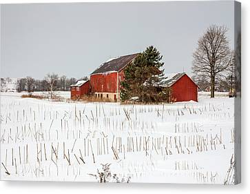 The Red Barn Canvas Print by Nick Mares