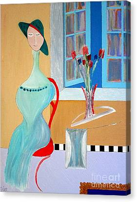 Canvas Print featuring the painting The Red Chair by Bill OConnor