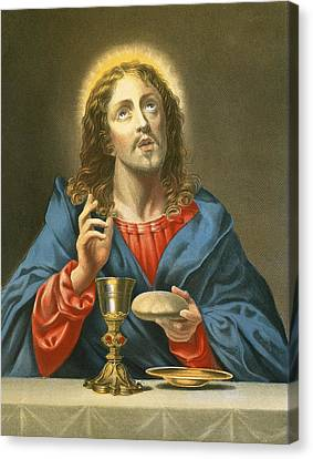 The Redeemer Canvas Print by Carlo Dolci
