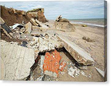 The Remains Of The Godwin Battery Canvas Print by Ashley Cooper