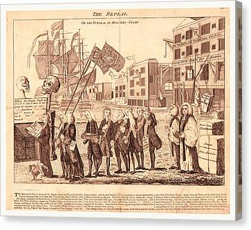 The Repeal, Or The Funeral Of Miss Ame=stamp Canvas Print by Litz Collection