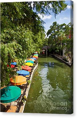 The River Walk Canvas Print by Erika Weber