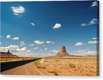 The Road To Monument Valley Canvas Print by Silvio Ligutti