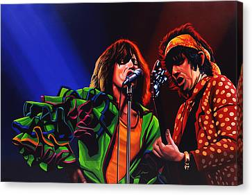 Rolling Stones Canvas Print - The Rolling Stones 2 by Paul Meijering