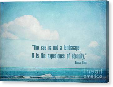 The Sea Canvas Print by Angela Doelling AD DESIGN Photo and PhotoArt