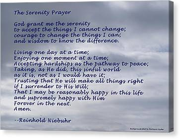 The Lord Himself Will Descend Canvas Print - The Serenity Prayer by Barbara Snyder