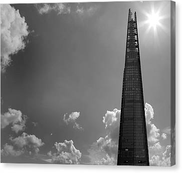 Urban Exploration Canvas Print - The Shard London by Martin Newman