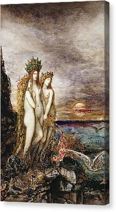 The Sirens Canvas Print by Gustave Moreau