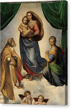 The Sistine Madonna Canvas Print
