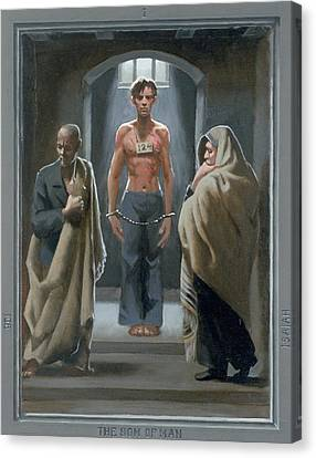 1. The Son Of Man With Job And Isaiah / From The Passion Of Christ - A Gay Vision Canvas Print by Douglas Blanchard
