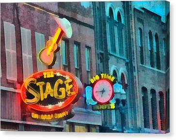 The Stage On Broadway Canvas Print by Dan Sproul