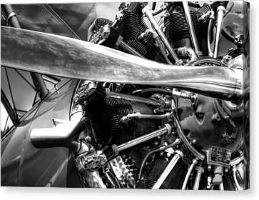 The Stearman Jacobs Aircraft Engine Canvas Print by David Patterson