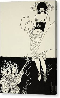 The Stomach Dance Canvas Print by Aubrey Beardsley