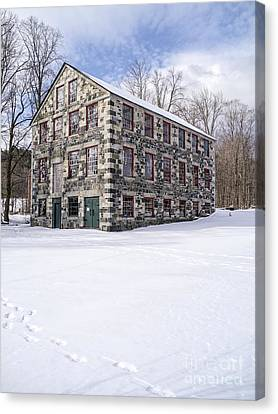 The Stone Mill At The Enfield Shaker Museum Canvas Print by Edward Fielding