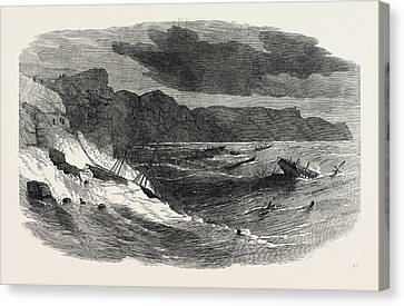 The Storm In The Crimea Storm In Balaclava Bay 1854 Canvas Print by English School