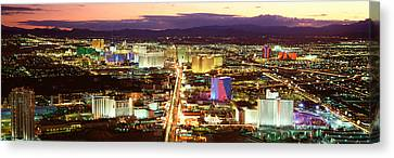 The Strip, Las Vegas Nevada, Usa Canvas Print by Panoramic Images