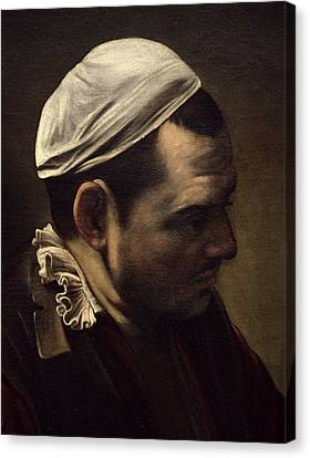 The Supper At Emmaus Canvas Print by Michelangelo Merisi da Caravaggio