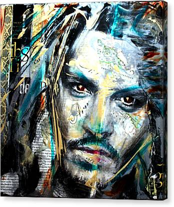 The Talented Mr. Depp Canvas Print by Penelope Stephensen