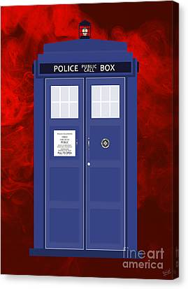 Office Space Canvas Print - The Tardis by Nishanth Gopinathan