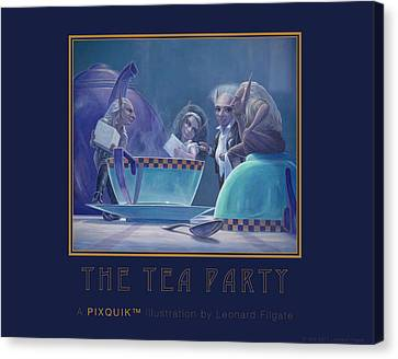 The Tea Party Canvas Print by Leonard Filgate