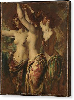 The Three Graces Canvas Print by William Etty