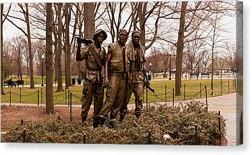 The Three Soldiers Bronze Statues Canvas Print by Panoramic Images