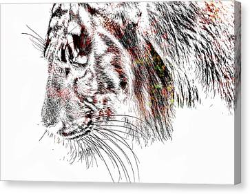 The Tiger Canvas Print by Tommytechno Sweden