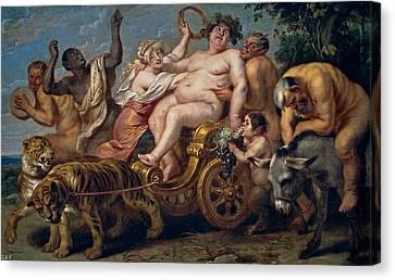 The Triumph Of Bacchus Canvas Print by Cornelis de Vos