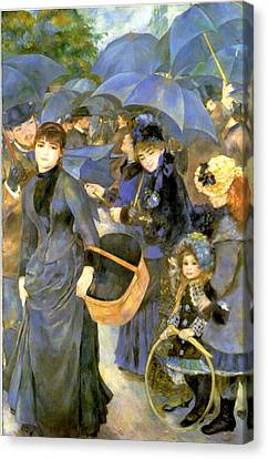 The Umbrellas Canvas Print by Pierre Auguste Renoir