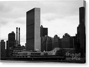 The United Nations Building Un New York Canvas Print