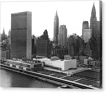 The United Nations Building Canvas Print by Underwood & Underwood