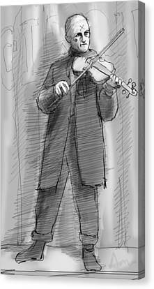 Creepy Canvas Print - The Violinist by H James Hoff
