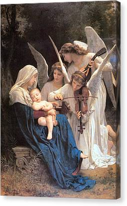 The Virgin With Angels Canvas Print by William Bouguereau