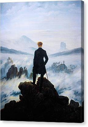 Newy Ork Canvas Print - The Wanderer Above The Sea Of Fog by Celestial Images