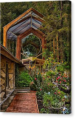 The Wayfarers Chapel Canvas Print by Donna Greene
